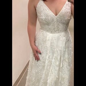 Never used Calvin Klein wedding dress!!